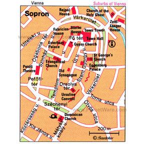 Sopron, Hungary main square planetware com