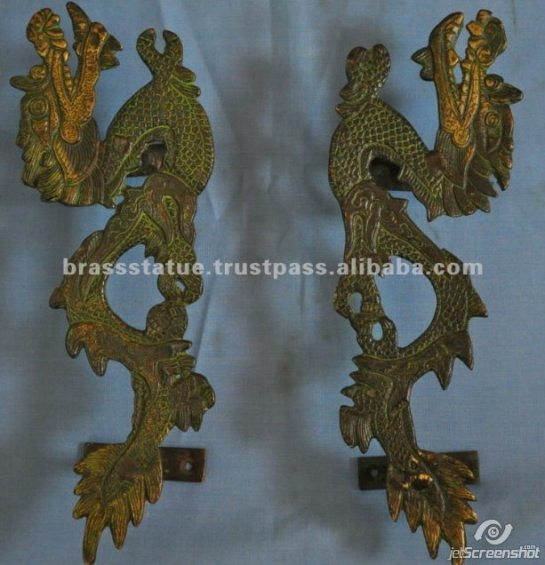 Aakrati Brasssware alibaba com brass Chinese long dragon door  handles