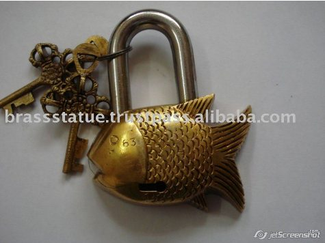 Aakrati Brasssware alibaba com brass fish ornate lock