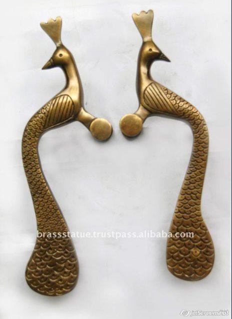 Aakrati Brasssware alibaba com brass peacock double door handles