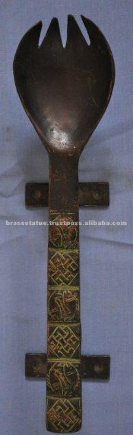 Aakrati Brasssware alibaba com bronze ancient spork anachronism handles