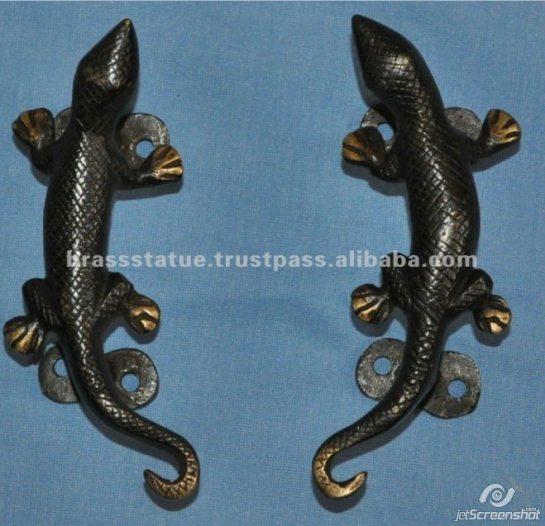 Aakrati Brasssware alibaba com bronze gecko double door handles