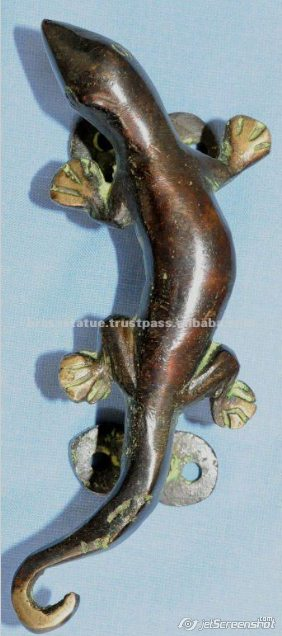 Aakrati Brasssware alibaba com bronze gecko lizard door handles