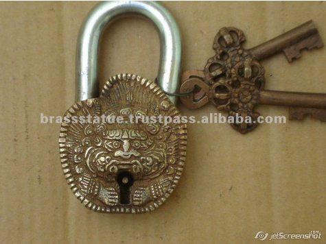 Aakrati Brasssware alibaba com iron mayan face foo dog lock
