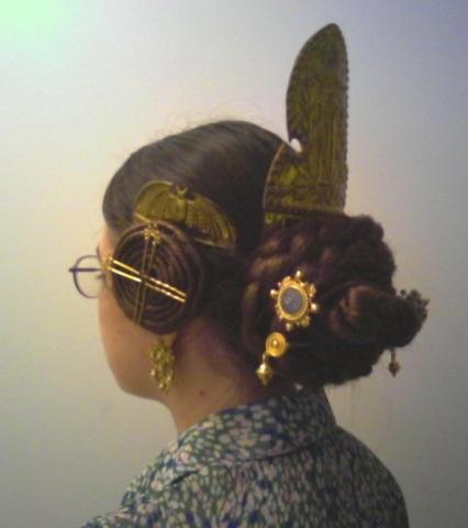 doyoudesigntoo wordpress com Fallera Hair for Saint Patricks Day side