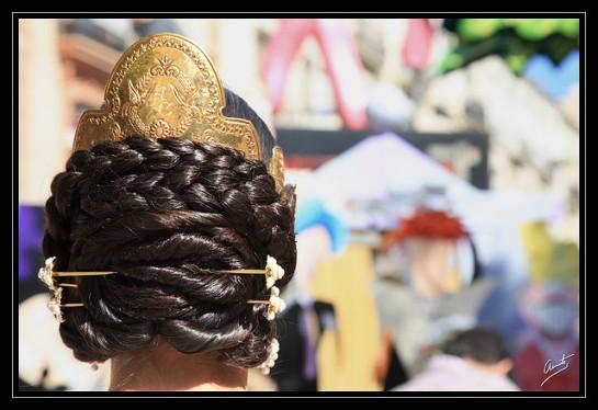 flickr R. Clemente Valencia Fallera Hair Behind
