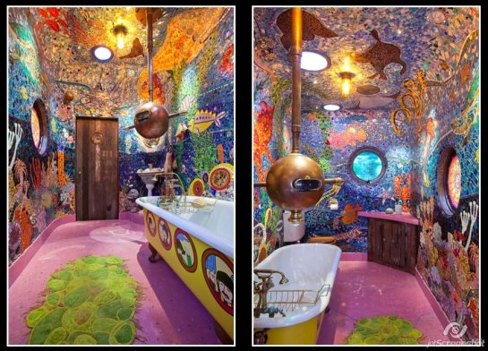jainabee com Yellow Submarine Bathroom Gaudis Beach House From The Movie Brazil 2