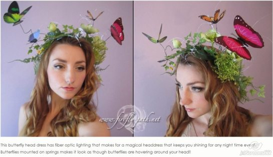 Easter fascinator hat fiber optic_Butterfly Headdress Sale