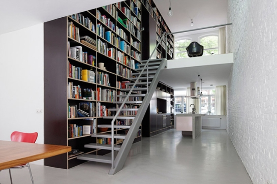 This Netherlands Dream House Was Entirely Built Around a Giant Three-Story-High Bookshelf 2 Gizmodo com
