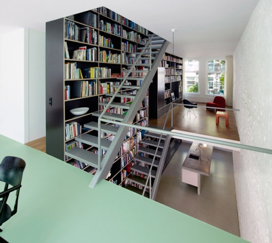 This Netherlands Dream House Was Entirely Built Around a Giant Three-Story-High Bookshelf 5 gizmodo com