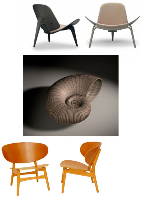 design-crisis com giant shell chair