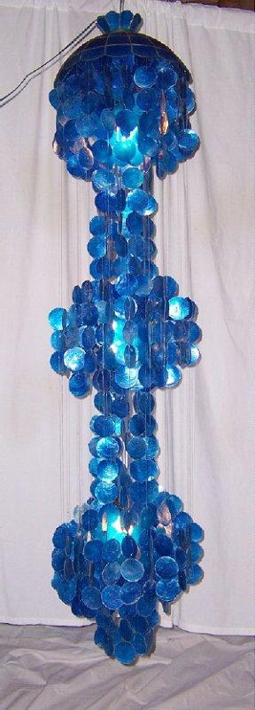 midnite blue capiz chandelier