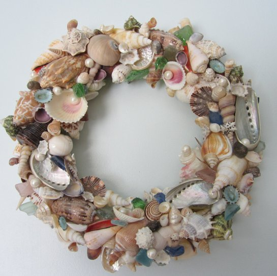 luulla com seashell beach decor wreathws