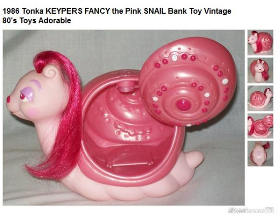 Tonka Keypers Pink Snail etsy com UncleJohnsBand
