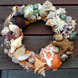 tuvaluhome com natural multi shell wreath