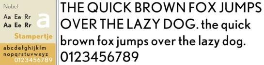 Nobel font composite