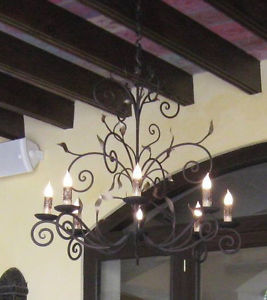 ebay mexican wrought iron chandelier tillandsia Spanish moss idea