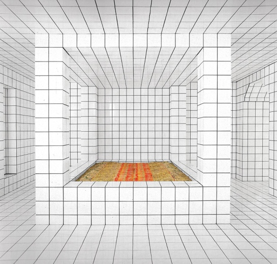 imrevolting net Jean-Pierre Raynaud white Escher tile work bed