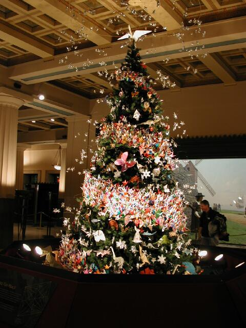 2001 Origami Holiday Tree at American Museum of Natural History