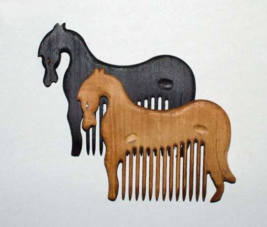 artgiftstore etsy com wooden horse comb jewel eyes WANT 15 dollars from the Ukraine