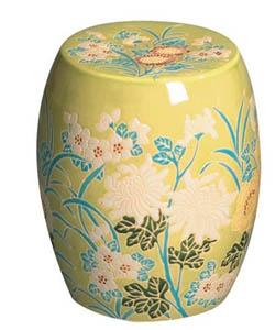 inside avenue com yellow flower garden stool chinoiserie