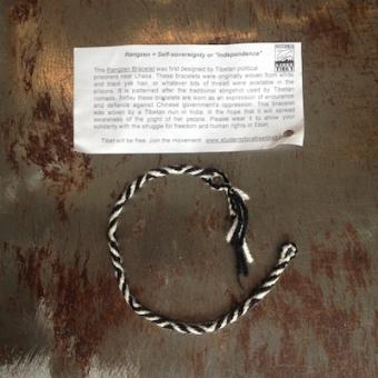 Rangzen Free Tibet bracelet by Buddhist nun indiemerch com