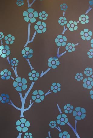 Sakura-Deep-Ellum blue by minnie for flavor paper wallpaper
