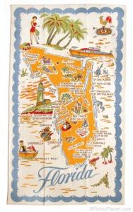 retroplanet com Florida souvenir towel