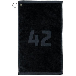 thinkgeek com black 42 hhgttg utility towel