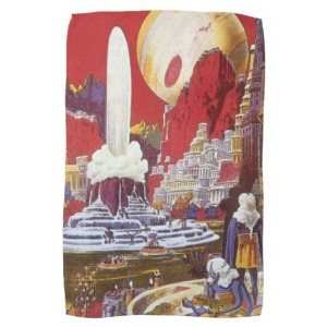 vintage_science_fiction_lost_city_of_atlantis_kitchen_towel zazzle com